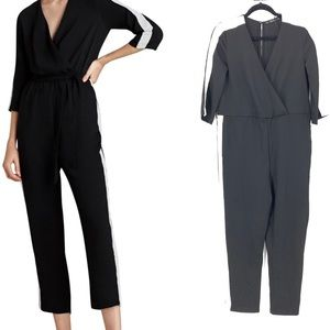 Zara : black and white jumpsuit size small